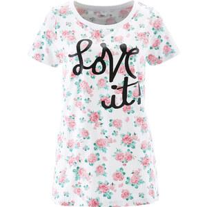 bpc bonprix collection Shirt, Kurzarm in weiß für Damen von bonprix