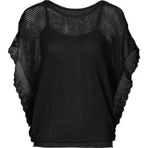 RAINBOW T-shirt 2 en 1 noir manches courtes femme - bonprix