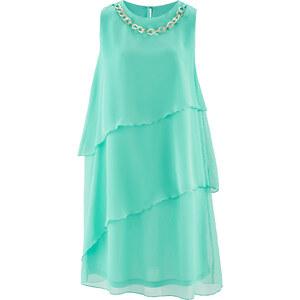 bpc selection Kleid mit Kette ohne Ärmel in grün von bonprix