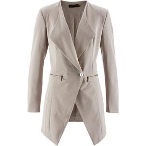 bpc selection premium Premium Long-Blazer langarm in grau für Damen von bonprix