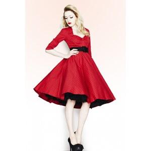 Bunny 50s Momo swing dress Red Black polka dot