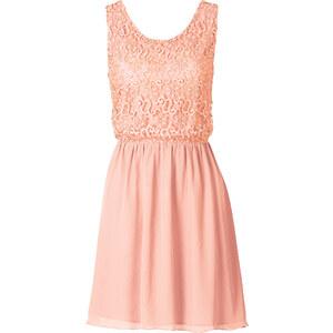 BODYFLIRT Kleid ohne Ärmel in pink (Rundhals) von bonprix