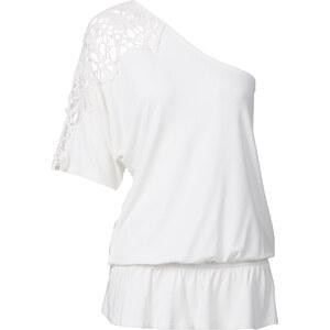 BODYFLIRT One-Shoulder-Shirt in weiß für Damen von bonprix