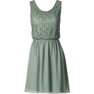 BODYFLIRT Kleid ohne Ärmel in grün (Rundhals) von bonprix