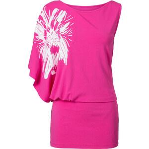 BODYFLIRT One-Shoulder-Shirt in pink für Damen von bonprix