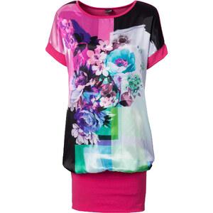 BODYFLIRT Shirtkleid/Sommerkleid kurzer Arm in pink (Rundhals) von bonprix