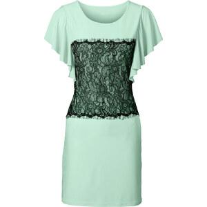 BODYFLIRT Shirtkleid/Sommerkleid kurzer Arm in grün (Rundhals) von bonprix