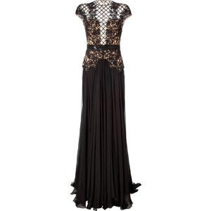 Zuhair Murad Silk Blend Gown with Beaded Overlay