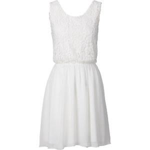 BODYFLIRT Robe d'été: Robe blanche sans manches femme - bonprix