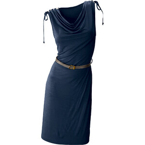 BODYFLIRT Robe d'été: Robe bleue sans manches Près du corps femme - bonprix