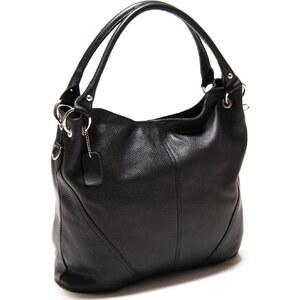 Roberta M Shopping Bag aus Leder - schwarz