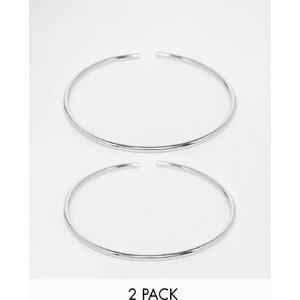 ASOS - Lot de 2 bracelets fins à porter sur le haut du bras - Argenté