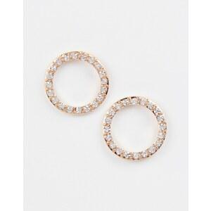 ASOS - Offene runde Ohrringe mit Strasssteinen