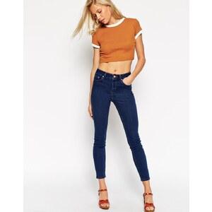 ASOS - Ridley - Skinny-Jeans in Cherry-Blau mit hohem Bund - Blau