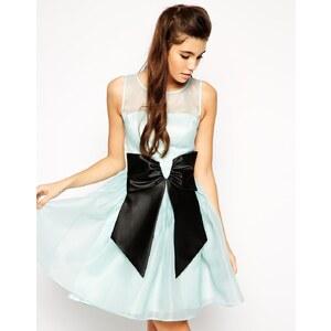 ASOS - Skater-Kleid mit Schleife - Hellblau