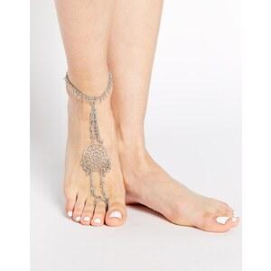 ASOS - Boho - Auffällige Fußkette - Silber poliert