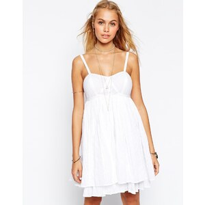 ASOS - Sommerkleid mit Streifen - Weiß