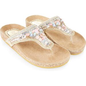 Accessorize Fußbett-Sandalen mit Pailletten- und Steinbesatz