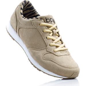bpc bonprix collection Tennis en cuir beige chaussures & accessoires - bonprix