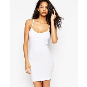 ASOS - Mini robe moulante coupe caraco - Blanc