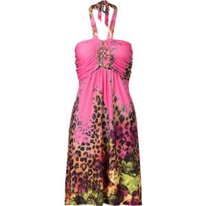 BODYFLIRT boutique Kleid mit Schmuckapplikation in pink von bonprix
