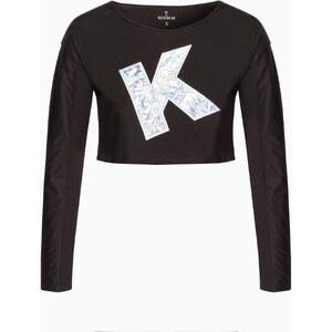 Lahalle T-shirt cropped motif irisé