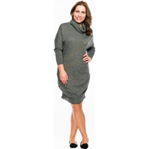 Lahalle Robe pull col roulé grande taille
