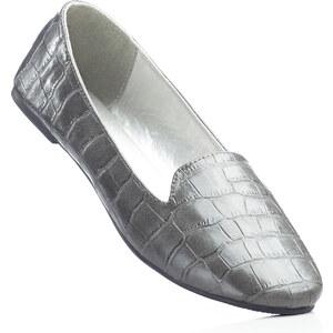 BODYFLIRT Slipper mit 1 cm Blockabsatz in grau von bonprix