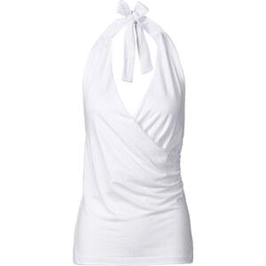 BODYFLIRT Neckholder-Top ohne Ärmel in weiß für Damen von bonprix