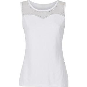 BODYFLIRT Top ohne Ärmel in weiß (Rundhals) für Damen von bonprix