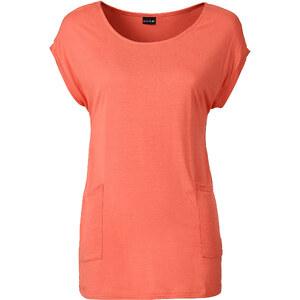 BODYFLIRT T-shirt avec poches orange manches courtes femme - bonprix