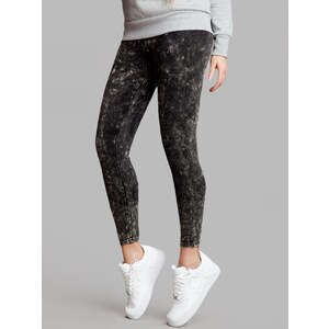 Urban Classics Ladies Acid Wash Leggings Dark Grey TB777