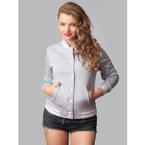 Urban Classics Ladies College Sweatjacket Grey TB216