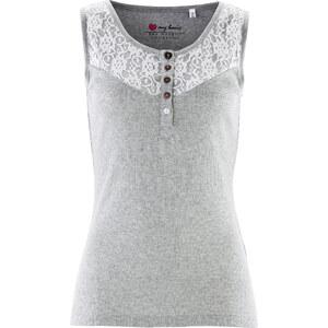 bpc bonprix collection Top mit Spitze ohne Ärmel in grau für Damen von bonprix