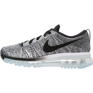 Nike Performance FLYKNIT MAX Laufschuh Dämpfung white/black/cool grey/wolf grey