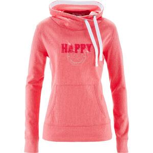 bpc bonprix collection Sweatshirt col roulé fuchsia manches longues femme - bonprix