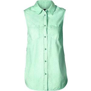 BODYFLIRT Top-chemisier vert sans manches femme - bonprix