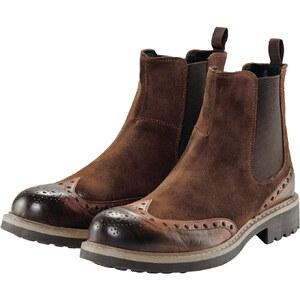 CONLEYS BLACK Boots, Vintage-Optik, Chelsea-Style, Lochmuster