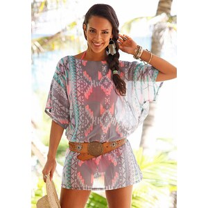 s.Oliver RED LABEL Beachwear Tunika mit Ethnomuster