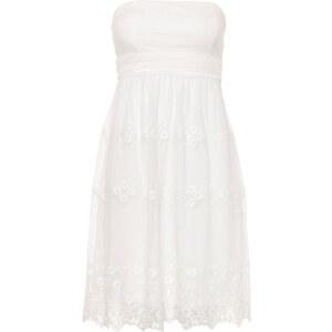 ESPRIT Bandeau-Kleid weiß