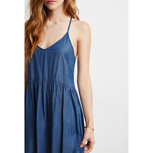 FOREVER21 Babydoll-Kleid aus Chambray