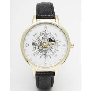 ASOS - Uhr mit Kompass-Print - Schwarz