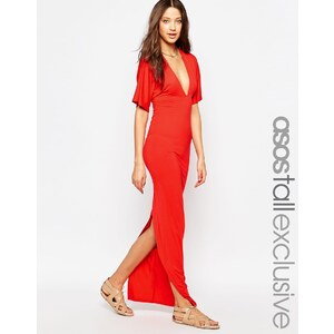 ASOS TALL - Kimono-Maxikleid mit sehr tiefem Ausschnitt vorne und hinten - Rot 15,99 €