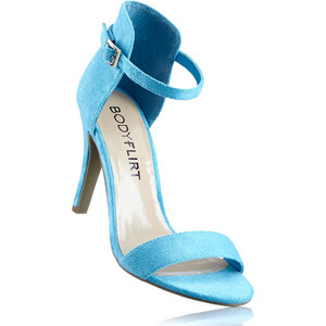 BODYFLIRT Les sandales bleu avec 9 cm haut talonchaussures & accessoires - bonprix