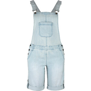 John Baner JEANSWEAR Salopette-bermuda en jean bleu femme - bonprix