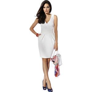 Etuikleid, Alba Moda, weiß, Sommerkleid in stilvollem Weiß