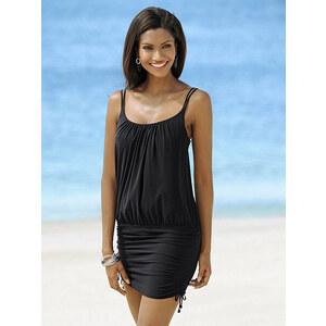Tankini-Kleid, Lidea, schwarz, Etwas weiteres Oberteil mit breitem Bündchen