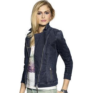 Jeansjacke, Bogner Jeans, blau, Baumwoll-Mix, Angesagter Biker-Style mit schräg verlaufendem 2-Wege-Reißverschluss