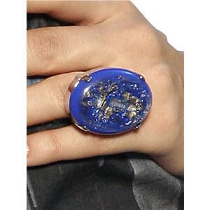 Ring, Alba Moda, blau, Aus nickelfreiem Metall