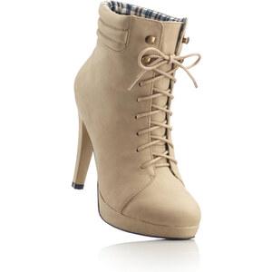 RAINBOW Bottines à lacets marron chaussures & accessoires - bonprix